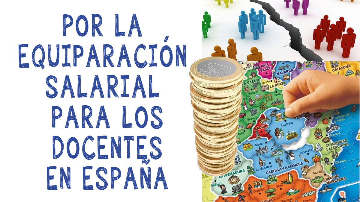 Equiparación salarial para docentes de España