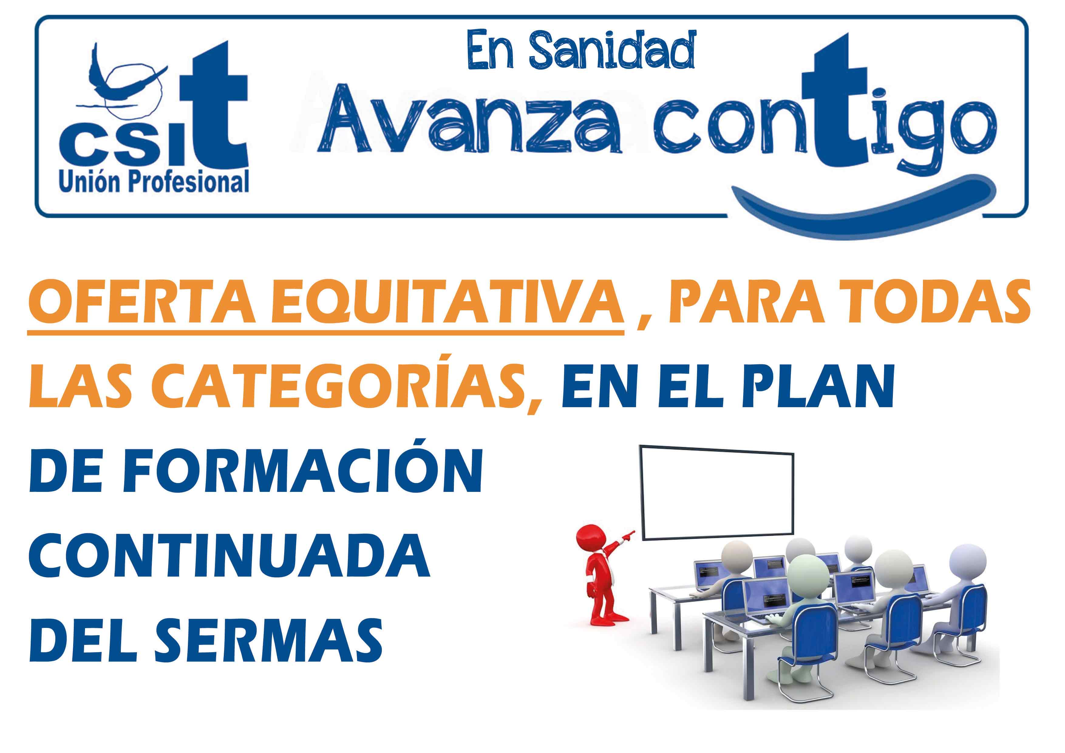 Oferta equitativa, para todas las categorías, en el Plan Formación Continuada del SERMAS