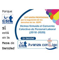 CSIT UNIÓN PROFESIONAL firma el Convenio Colectivo Personal Laboral (2018-2020)