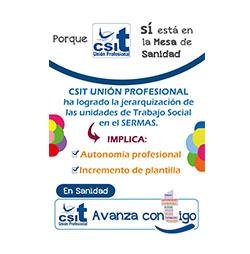 CSIT UNIÓN PROFESIONAL logra aumento de plantilla  y autonomía profesional en los Trabajadores sociales del SERMAS