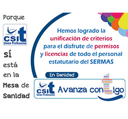 Unificación criterios en permisos y licencias, personal estatutario del SERMAS