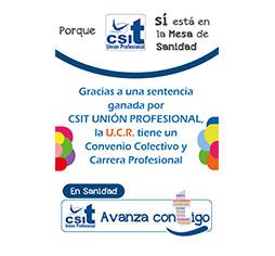 CSIT UNIÓN PROFESIONAL logra Convenio Colectivo y Carrera Profesional para la UCR