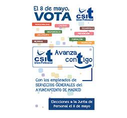 El 8 de mayo, vota CSIT UNIÓN PROEFSIONAL