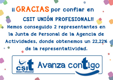 ELECCIONES JUNTA PERSONAL AGENCIA DE ACTIVIDADES