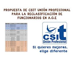 Propuesta de CSIT UNIÓN PROFESIONAL para reclasificación funcionarios AGE
