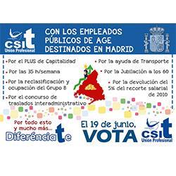 CSIT UNIÓN PROFESIONAL con los EEPP de AGE destinados en Madrid