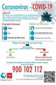 Medidas preventivas y recomendaciones de salud pública en la CM por evolución Coronavirus