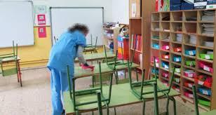 COVID-19: Servicio limpieza centros públicos educativos CM