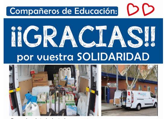 Gracias por vuestra solidaridad, compañeros de Educación DAT Sur