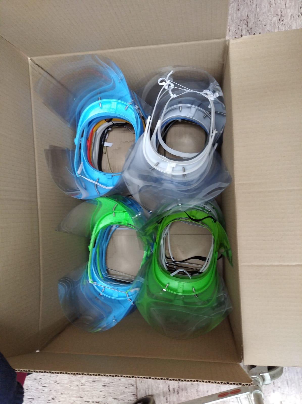 máscaras donadas