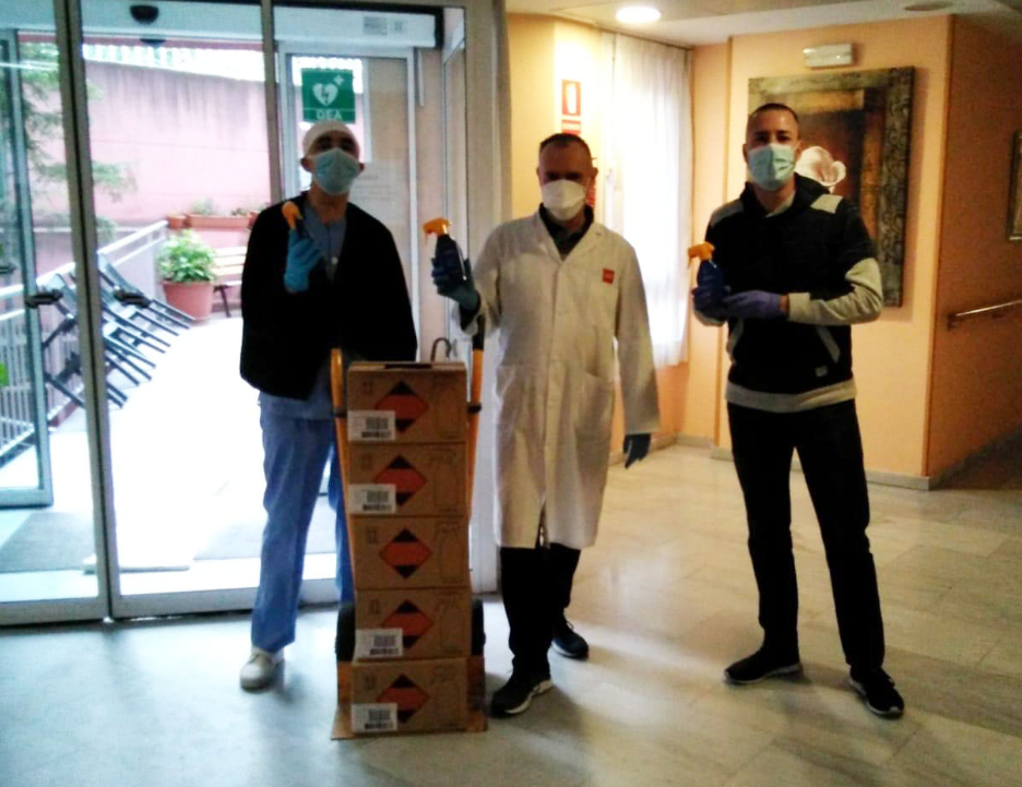 CSIT UNIÓN PROFESIONAL agradece las donaciones y colaboraciones para disminuir el riesgo de contagio por COVID-19 entre los trabajadores del AMAS