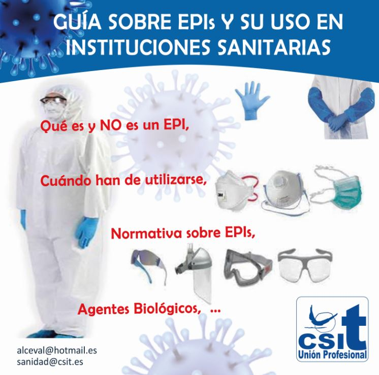 Guía sobre EPIs y su uso en Instituciones Sanitarias
