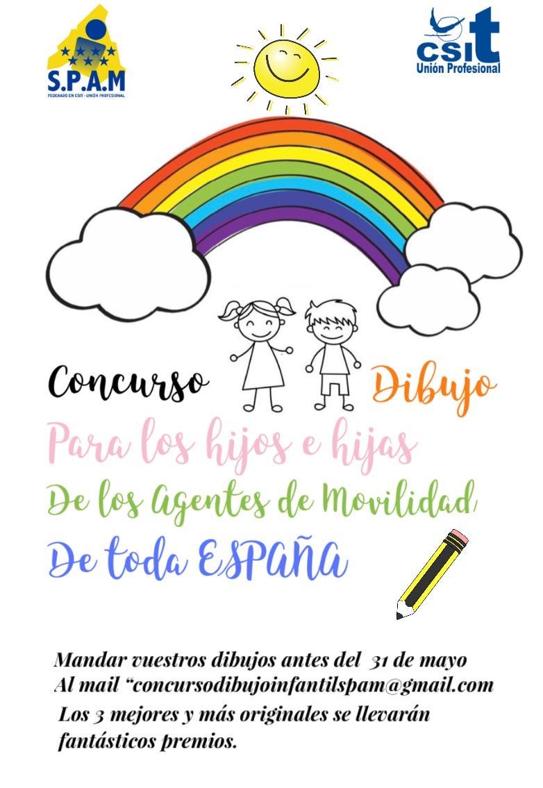 El Sindicato Profesional de Agentes de Movilidad,SPAM, federado en CSIT UNIÓN PROFESIONAL,  celebrará el primer concurso infantil de dibujo.