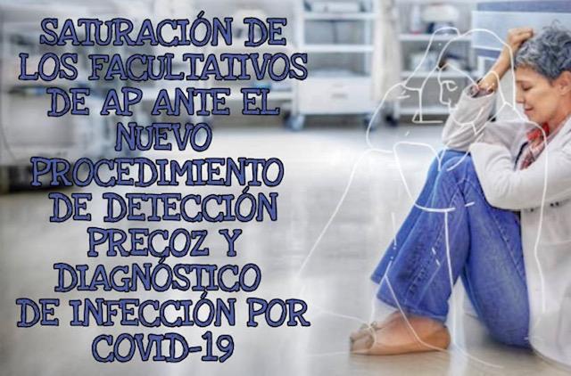 Saturación de trabajo para los Facultativos de Primaria ante el nuevo procedimiento de detección precoz y diagnóstico de infección por COVID-19