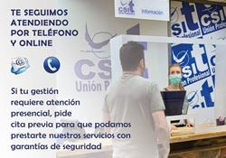 CSIT UNIÓN PROFESIONAL abre sus instalaciones para retomar la prestación de servicios presencial mediante cita previa obligatoria