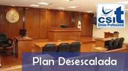 Plan desescalada Administración de Justicia