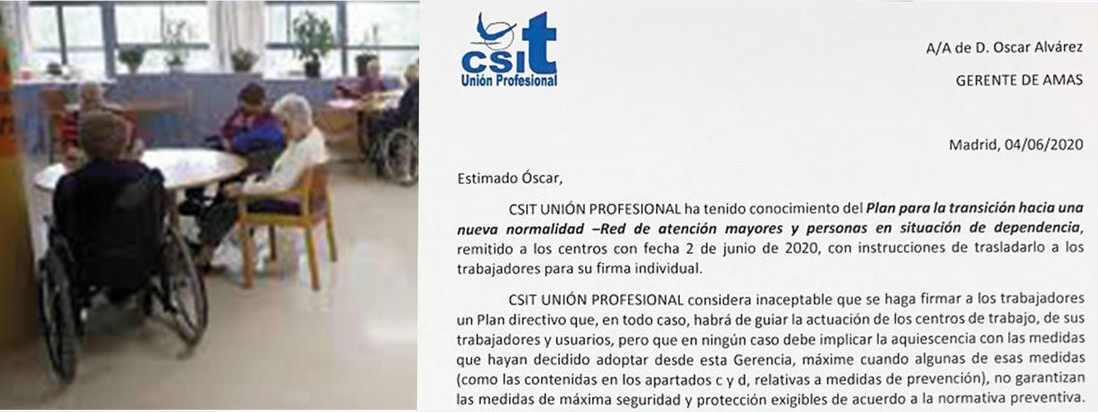 Carta de CSIT UNIÓN PROFESIONAL al Gerente de la AMAS
