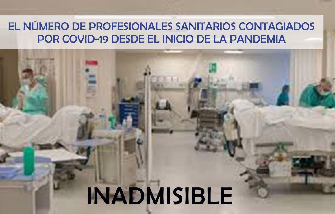 Actualización datos del Ministerio Sanidad sobre el número de profesionales contagiados