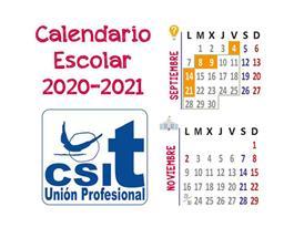 Calendario escolar CSIT UNIÓN PROFESIONAL 2020-2021