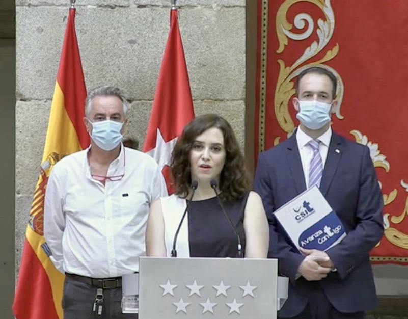Presidenta durante el discurso del acto de firma del Acuerdo de Teletrabajo 24/07/2020