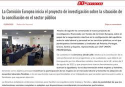 La Comisión Europea inicia el proyecto de investigación sobre la situación de la conciliación en el sector público