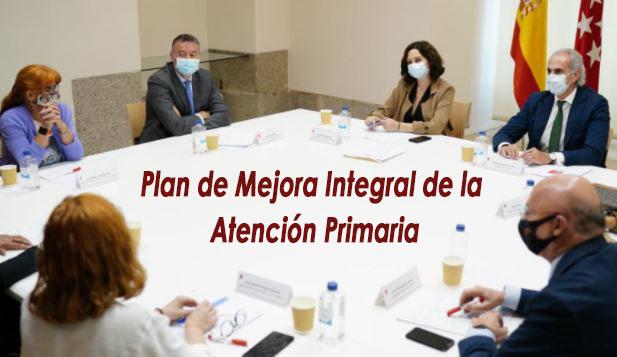 Nos reunimos con Ayuso para conocer más del Plan de Mejora Integral de la Atención Primaria