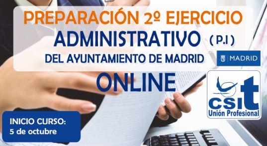 2º ejrcicio Administrativo Ayto Madrid PI