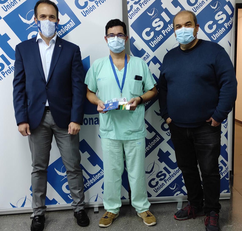 """Entrega Tercer premio en Hospital Universitario de Getafe: """"Y de repente, confinado"""", de Segundo José Sánchez Gutiérrez"""
