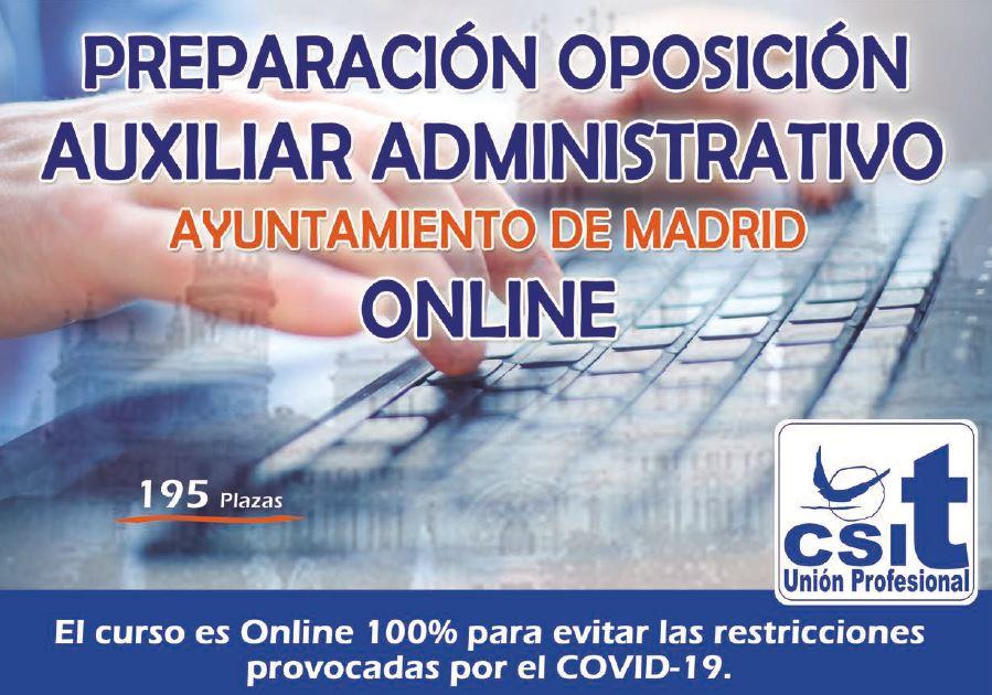 oposiciones Aux. Advo. Ayto Madrid