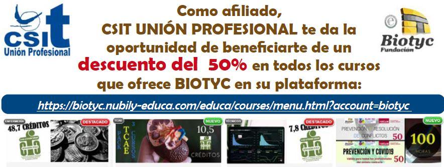 Descuento del 50% en cursos Biotyc