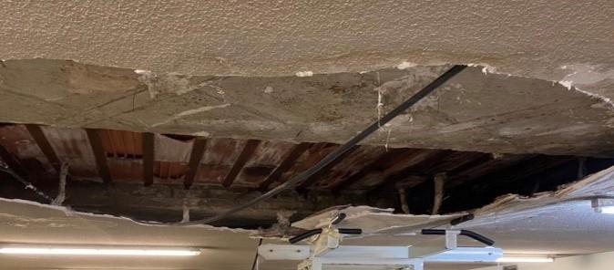 En la UID.de Chamartín se ha caído parte del techo.
