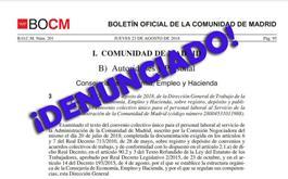 ¿Por qué no han denunciado el Convenio Colectivo y el Acuerdo Sectorial todos los sindicatos firmantes?