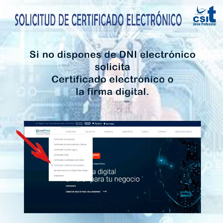 Solicitud certificado electrónico