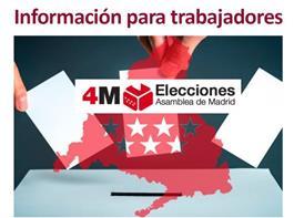 Permisos retribuidos para los trabajadores ante las Elecciones Autonómicas del 4 de mayo CM