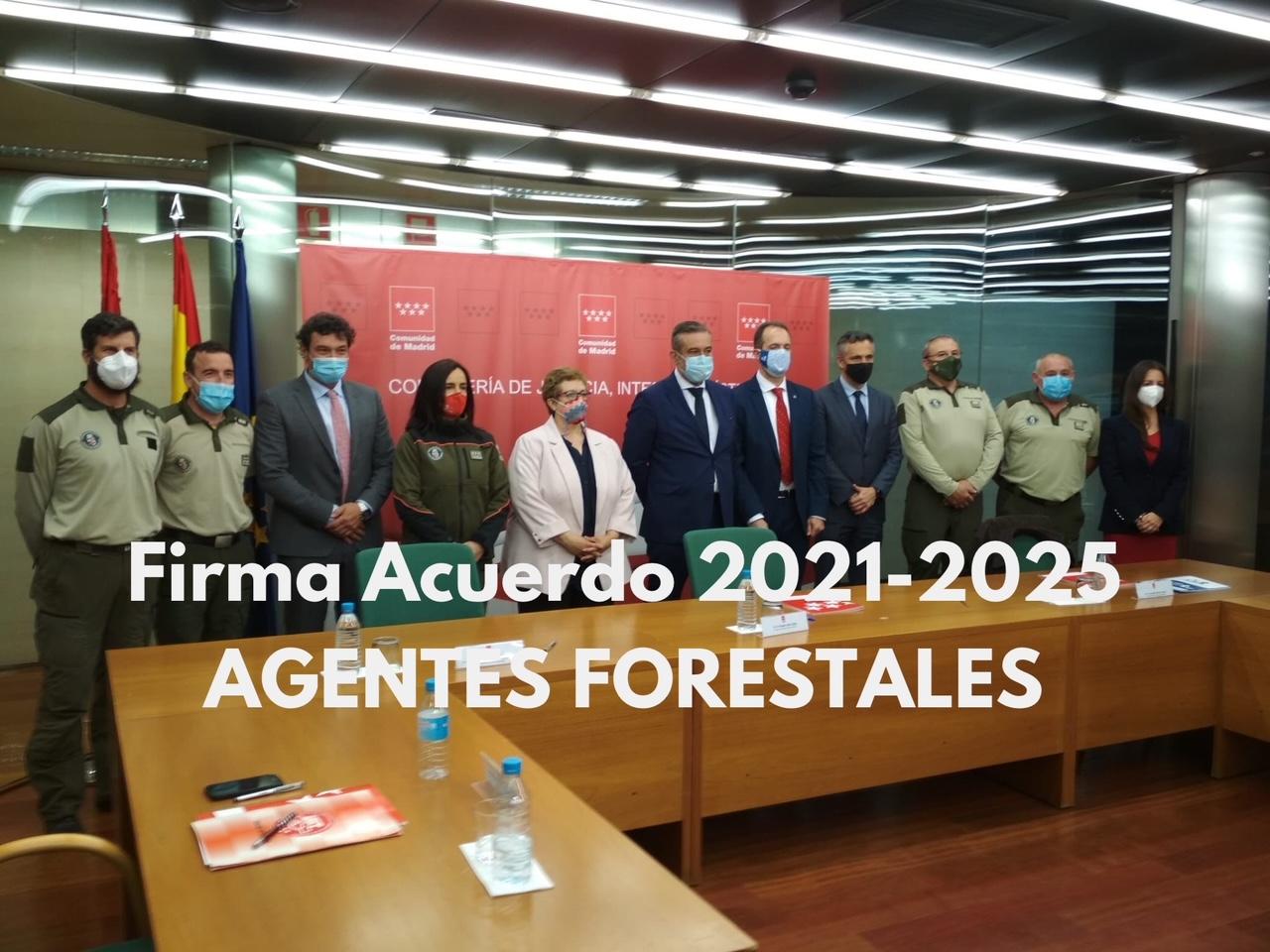 Firma acuerdo Agentes forestales 2021-2025