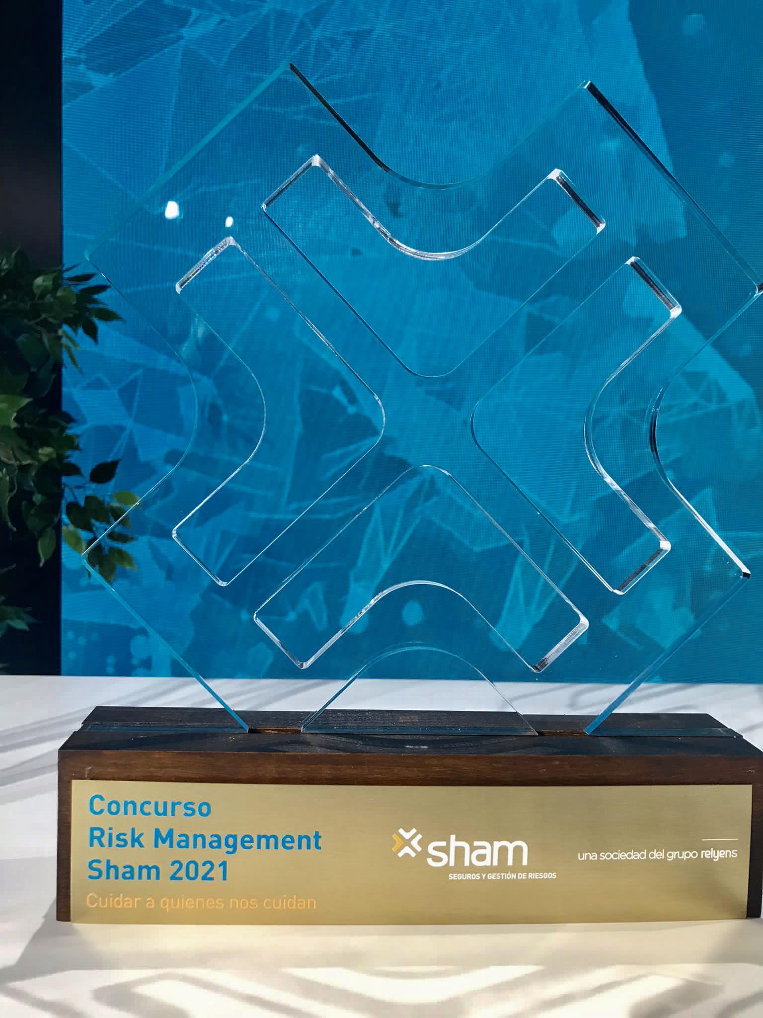 Galardón entregado a CSIT UNIÓN PROFESIONAL por su proyecto: SermaSaludable, en el concurso Risk Management Sham 2021